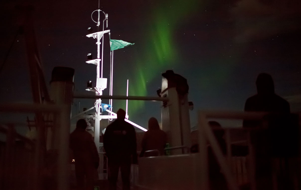northern lights cruise in Akureyri